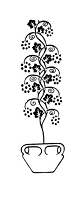 Frantic Stamper Cling-Mounted Rubber Stamp - Potted Vine