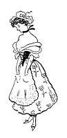 Frantic Stamper Cling-Mounted Rubber Stamp - Peasant Girl