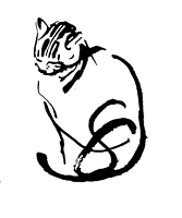 Frantic Stamper Cling-Mounted Rubber Stamp - The Artist's Cat
