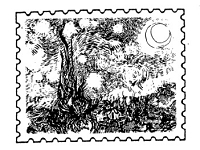 Frantic Stamper Cling-Mounted Rubber Stamp - Starry Night Post