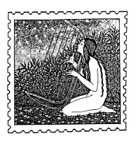 Frantic Stamper Cling-Mounted Rubber Stamp - Harp Nude Post