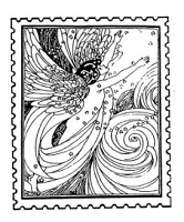 Frantic Stamper Cling-Mounted Rubber Stamp - Angel Nude Post