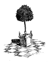 Frantic Stamper Cling-Mounted Rubber Stamp - Topiary