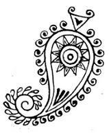 Frantic Stamper Cling-Mounted Rubber Stamp - Paisley Medallion