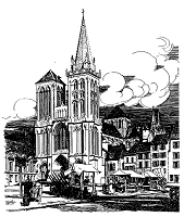 Frantic Stamper Cling-Mounted Rubber Stamp - Lisieux Cathedral