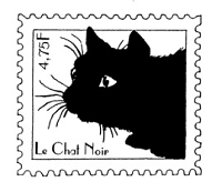 Frantic Stamper Cling-Mounted Rubber Stamp - Black Cat Post