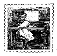Frantic Stamper Cling-Mounted Rubber Stamp - Piano Post