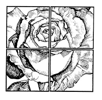 Frantic Stamper Cling-Mounted Rubber Stamp - Window Rose