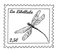 Frantic Stamper Cling-Mounted Rubber Stamp - Dragonfly Post