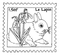 Frantic Stamper Cling-Mounted Rubber Stamp - Rabbit Post