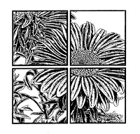 Frantic Stamper Cling-Mounted Rubber Stamp - Window sunflower