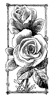 Frantic Stamper Cling-Mounted Rubber Stamp - Vertical Rose