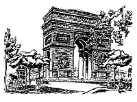 Frantic Stamper Cling-Mounted Rubber Stamp - Arc de Triomphe