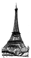 Frantic Stamper Cling-Mounted Rubber Stamp - Lg Eiffel tower #2