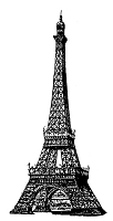 Frantic Stamper Cling-Mounted Rubber Stamp - Lg Eiffel Tower #3