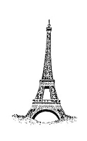 Frantic Stamper Cling-Mounted Rubber Stamp - Sm Eiffel Tower #3