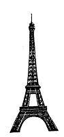 Frantic Stamper Cling-Mounted Rubber Stamp - Med Eiffel Tower #2