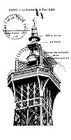 Frantic Stamper Cling-Mounted Rubber Stamp - Eiffel Tower Summit