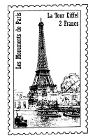 Frantic Stamper Cling-Mounted Rubber Stamp - Eiffel Tower Post