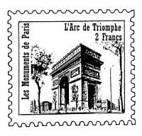 Frantic Stamper Cling-Mounted Rubber Stamp - Arc de Triomphe Post