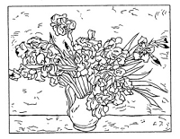 Frantic Stamper Cling-Mounted Rubber Stamp - Van Gogh Irises