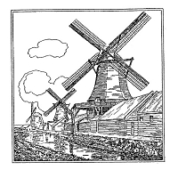 Frantic Stamper Cling-Mounted Rubber Stamp - Windmill
