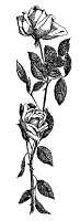 Frantic Stamper Cling-Mounted Rubber Stamp - Tall Rose