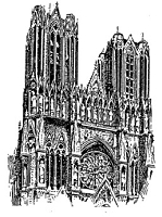 Frantic Stamper Cling-Mounted Rubber Stamp - Reims Cathedral