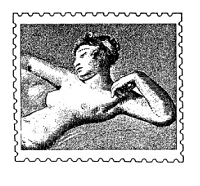 Frantic Stamper Cling-Mounted Rubber Stamp - Nude Post