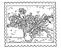 Frantic Stamper Cling-Mounted Rubber Stamp - Iris Post