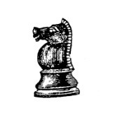 Frantic Stamper Cling-Mounted Rubber Stamp - Chess Piece