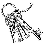 Frantic Stamper Cling-Mounted Rubber Stamp - Key Ring