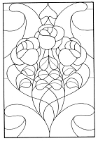 Frantic Stamper Cling-Mounted Rubber Stamp - Rose Stained Glass