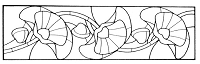 Frantic Stamper Cling-Mounted Rubber Stamp - Flower Stained Glass