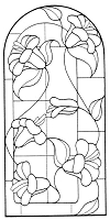 Frantic Stamper Cling-Mounted Rubber Stamp - Tall Stained Glass