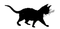 Frantic Stamper Cling-Mounted Rubber Stamp - Kitten Silhouette