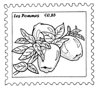Frantic Stamper Cling-Mounted Rubber Stamp - Apple Postoid
