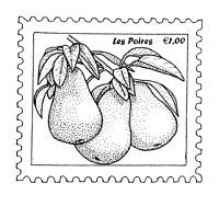 Frantic Stamper Cling-Mounted Rubber Stamp - Pear Postoid