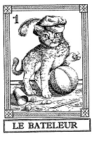 Frantic Stamper Cling-Mounted Rubber Stamp - Cat Tarot Card - Le Bateleur