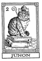 Frantic Stamper Cling-Mounted Rubber Stamp - Cat Tarot Card - Junon