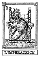 Frantic Stamper Cling-Mounted Rubber Stamp - Cat Tarot Card - L'Imperatrice