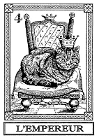 Frantic Stamper Cling-Mounted Rubber Stamp - Cat Tarot Card - L'Empereur