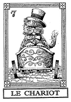 Frantic Stamper Cling-Mounted Rubber Stamp - Cat Tarot Card - Le Chariot