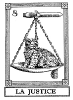 Frantic Stamper Cling-Mounted Rubber Stamp - Cat Tarot Card - La Justice