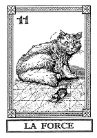 Frantic Stamper Cling-Mounted Rubber Stamp - Cat Tarot Card - La Force