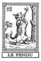 Frantic Stamper Cling-Mounted Rubber Stamp - Cat Tarot Card - Le Pendu
