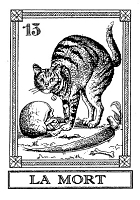 Frantic Stamper Cling-Mounted Rubber Stamp - Cat Tarot Card - La Mort