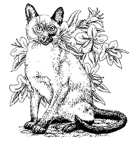 Frantic Stamper Cling-Mounted Rubber Stamp - Large Siamese