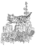 Frantic Stamper Cling-Mounted Rubber Stamp - Kitten on fence