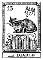 Frantic Stamper Cling-Mounted Rubber Stamp - Cat Tarot Card - Le Diable